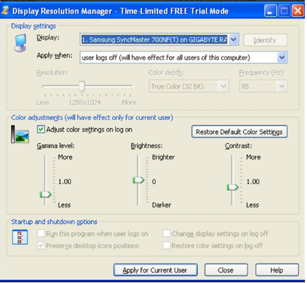 • Display Resolution Manager
