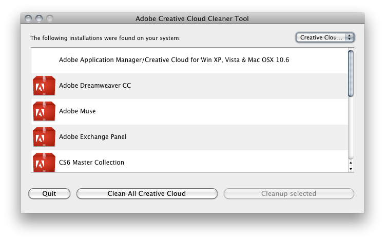 Creative Cloud Cleaner Tool