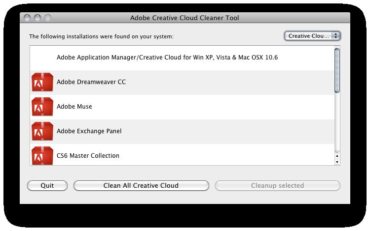 Creative Cloud Cleaner Tool