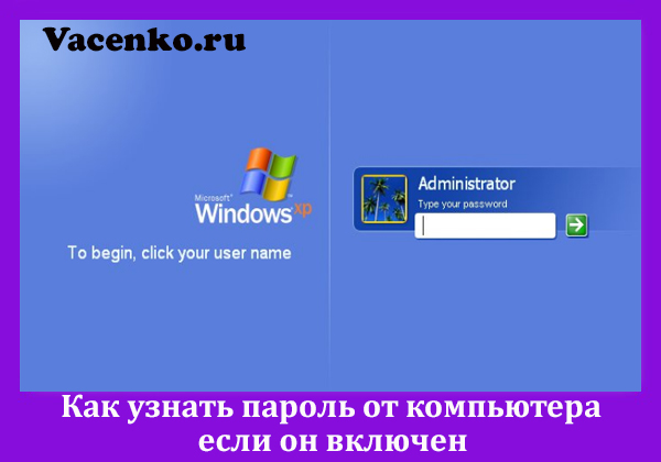 Как узнать пароль от компьютера Windows 7 если он включен